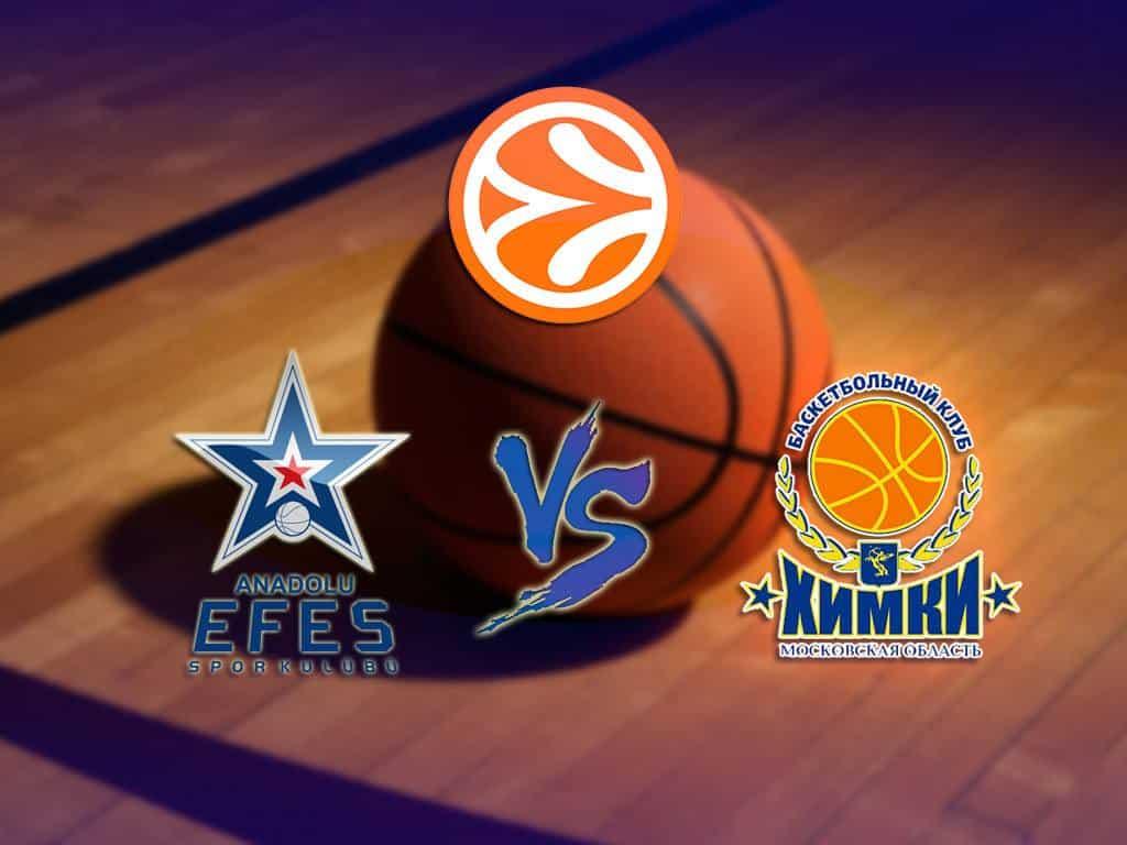 Баскетбол-Евролига-Мужчины-Анадолу-Эфес-Турция-Химки-Россия