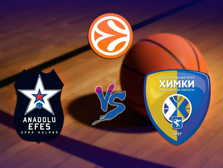 Баскетбол Евролига Мужчины Анадолу Эфес Химки Прямая трансляция в 20:25 на канале