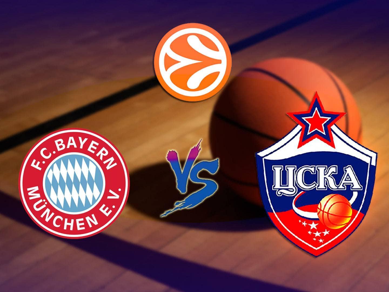 Баскетбол Евролига Мужчины Бавария Германия ЦСКА Россия в 02:30 на канале