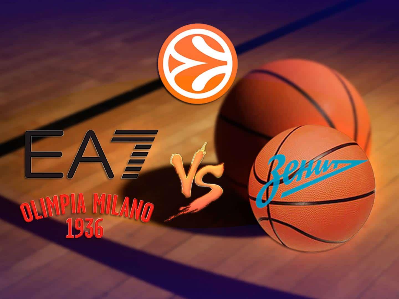 программа Матч Игра: Баскетбол Евролига Мужчины Милан Италия – Зенит Россия