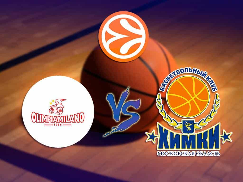 программа Матч Игра: Баскетбол Евролига Мужчины Милан Италия Химки Россия