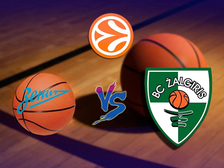 Баскетбол Евролига Мужчины Зенит Россия Жальгирис Литва в 02:55 на канале