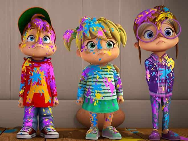 Элвинн!!! И бурундуки Художник / Счастливый день в 08:50 на канале Nickelodeon