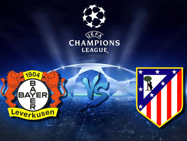 Футбол Лига чемпионов Байер Германия Атлетико Испания Прямая трансляция в 22:50 на канале