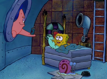 программа Nickelodeon: Губка Боб Квадратные Штаны Кальмар плюс один // Тяжелая жизнь начальника