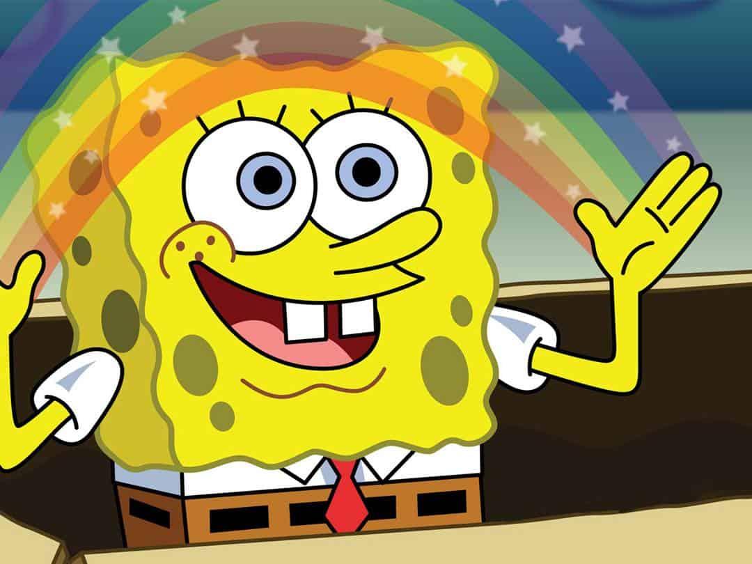 программа Nickelodeon: Губка Боб Квадратные Штаны Мускул Боб Могучие Штаны/Сквидвард недружелюбный призрак