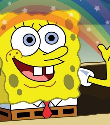 Губка Боб Квадратные Штаны Подводная деревенщина / Несчастное извержение в 07:40 на Nickelodeon