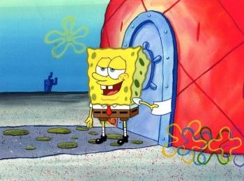 программа Nickelodeon: Губка Боб Квадратные Штаны Хлопья!/Здесь или с собой?