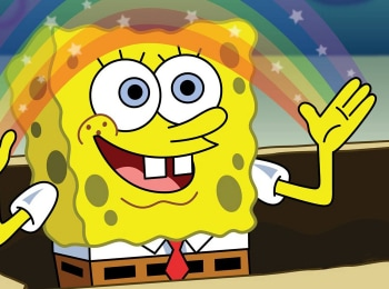 Губка-Боб-Квадратные-Штаны-За-стеклом-аквариума--Женитьба-на-деньгах