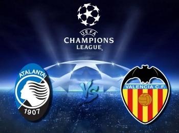 Лига чемпионов 1/8 финала Аталанта Италия — Валенсия Испания 1 й матч в 01:35 на канале