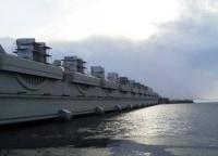 Петербургская дамба Уникальный щит в 15:30 на канале