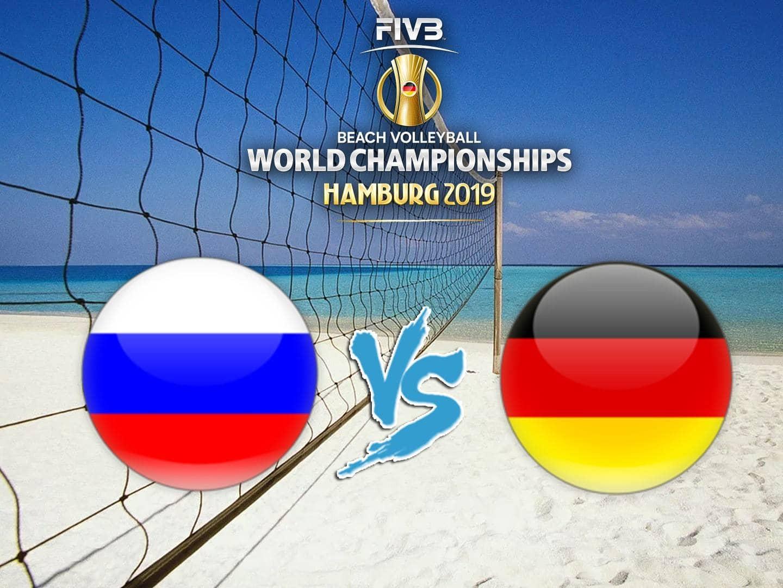 программа Матч Игра: Пляжный волейбол Чемпионат мира Мужчины Финал Россия Германия Трансляция из Германии