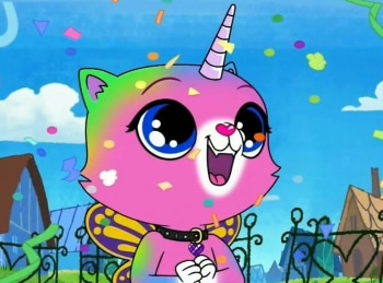 программа Nickelodeon: Радужно бабочково единорожная кошка Чудовище из озера Лоххаос / Мега Мяу и Супер Луча