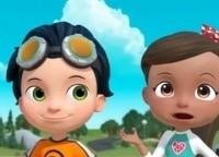 программа Nickelodeon: Расти механик Расти и заболевшие боты Путешествие к центру Спарктон Хиллс