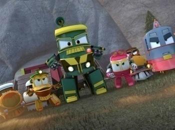 программа Карусель: Роботы поезда Ремонт часов на башне