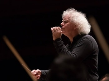 Сэр Саймон Рэттл, Леонидас Кавакос и Лондонский симфонический оркестр в 17:55 на канале