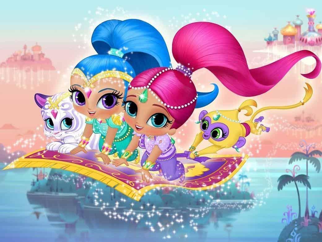 программа Nickelodeon: Шиммер и Шайн Добро пожаловать в Небо Зарамэй