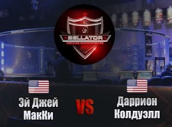 Смешанные-единоборства-Bellator-Эй-Джей-Макки-против-Дарриона-Колдуэлла-Трансляция-из-США