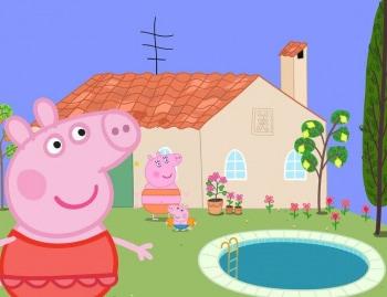 программа Nick Jr: Свинка Пеппа Зебра Зоя дочь почтальона