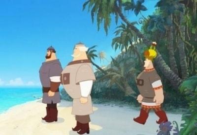 кадр из фильма Три богатыря. На дальних берегах