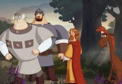 кадр из фильма Три богатыря. Ход конем