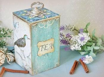 Волшебный декупаж Хранилище для чайных пакетиков в 12:15 на канале