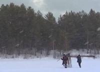 Зимняя рыбалка на озере Пезмег ты в 12:00 на канале