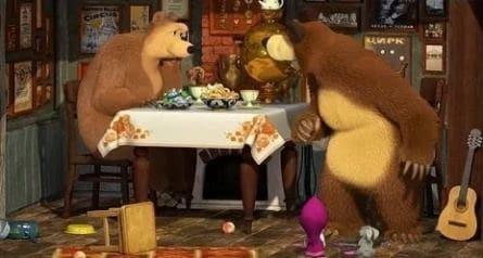 Маша и медведь кадры