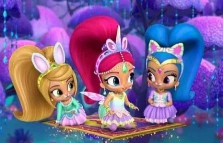 программа Nickelodeon: Шиммер и Шайн Зверушки спешат на помощь Сбежавшая радуга