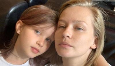10 летняя дочь Пересильд покрасила волосы в ярко розовый цвет