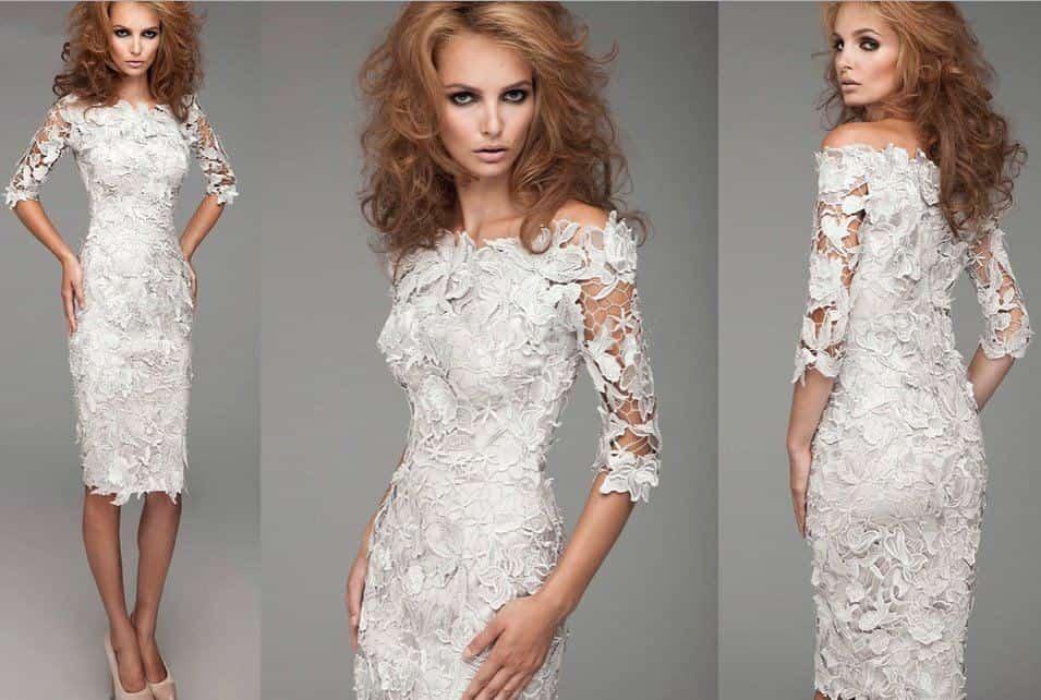 Купить платье из кружева гипюра