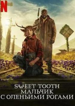 кадр из фильма Sweet Tooth: мальчик с оленьими рогами