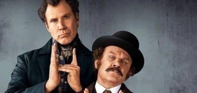 Уилл Феррелл на плакате комедии Холмс и Ватсон